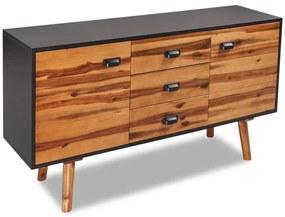 243900 vidaXL Bufet din lemn masiv de acacia, 115 x 35 x 70 cm