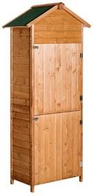 Outsunny Dulap pentru Extern Magazie pentru Scule Detașabil cu 2 Uși de Lemn 79 x 49 x 190cm