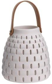 Felinar ceramic Karima, alb