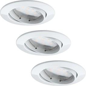 Paulmann 92765 - SET 3x LED Lampă încastrată COIN 3xLED/6,8W/230V alb