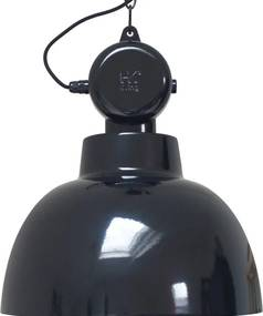Lampa Suspendata Industriala FACTORY Neagra M - Metal Negru Diametru (40x545 cm)