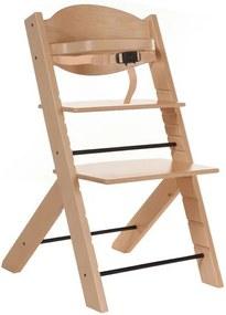 Treppy - Scaun masa bebe din lemn reglabil Natur