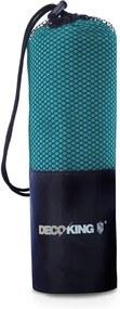 Prosop cu uscare rapidă DecoKing EKEA, 40 x 80 cm, turcoaz