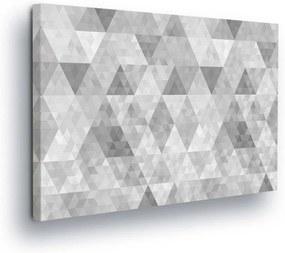 GLIX Tablou - Pattern with gray diamonds 60x40 cm