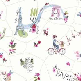 Arthouse Tapet - Paris with Love Paris with Love White Multi