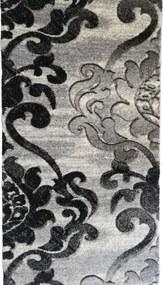 Traversa Tribal, gri negru, latime 80 cm (surfilata)