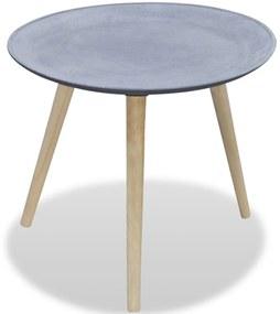 242231 vidaXL Masă laterală rotundă, gri, aspect de beton