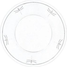 Farfurie din sticlă La Rochère Libellules, ⌀ 32 cm