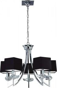 Mantra AKIRA 0782 Lustre, candelabre negre crom 5xE14 max. 40 W Ø54x60-155 cm