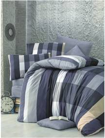Lenjerie de pat cu cearșaf și 2 fețe de pernă pentru pat dublu Cigdem, 200 x 220 cm