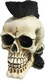 Statueta craniu Punk's not dead 16 cm