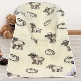 Pătură din lână Euro-Merino Oiţă, 100 x 150 cm