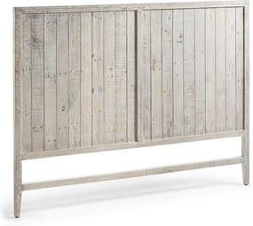 Tăblie pat cu patină albă La Forma Woody, 174 cm L
