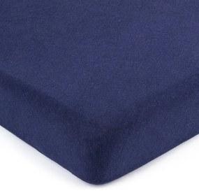 Cearșaf de pat 4Home jersey albastru închis, 180 x 200 cm