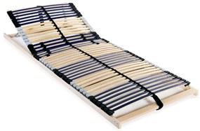 246467 vidaXL Bază de pat cu șipci, 42 șipci, 7 zone, 70 x 200 cm