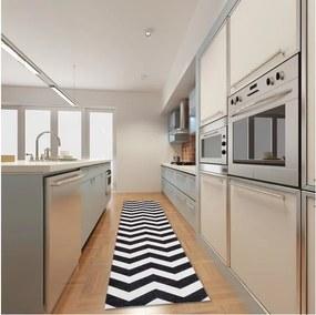 Covor pentru bucătărie foarte rezistent Webtapetti Optical Black White, 60 x 240 cm