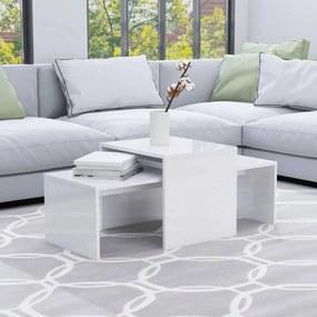 802918 vidaXL Set măsuțe de cafea, alb extralucios, 100x48x40 cm, PAL