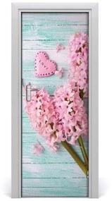 Autocolante pentru usi flori de liliac