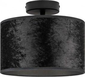 Plafoniera negru texturat din otel si velur Quince Bulb Attack