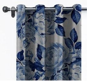 Draperie din catifea Velvet Atelier Flowers, 140 x 260 cm