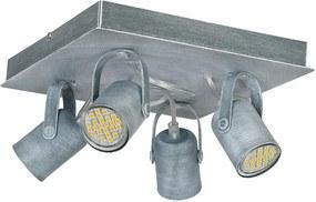 Lampa spot MARK 4 4xGU10/40W/230V gri