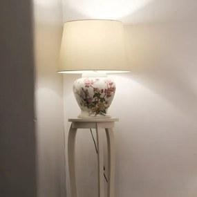 Suport pentru flori Miro din lemn alb 125x30 cm