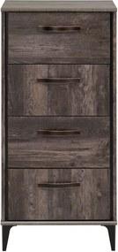 Comodă în decor de lemn de pin cu 4 sertare Parisot Ambra