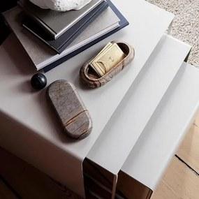 Set Masute de Cafea Gri din Metal (3 buc) - Metal Gri S-latime(41cm) x inaltime(35cm) x diametru(34cm); M-latime(48cm) x inaltime(40cm) x diametru(37c