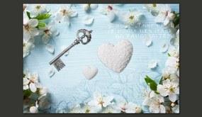 Fototapet Bimago - Spring key + Adeziv gratuit 300x210 cm
