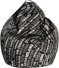 Fotoliu sac Evergreen House Bag Black