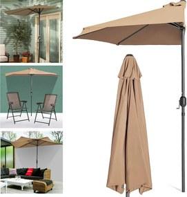 Umbrela de balcon semirotunda
