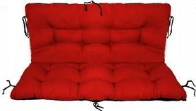Set perne decorative pentru mobilier paleti, perna sezut 120x70 cm + perna spate 120x40 cm, culoare rosu