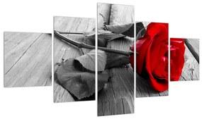 Tablou cu trandafirul roșu închis (125x70 cm), în 40 de alte dimensiuni noi