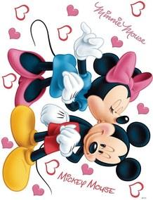 AG Design Minnie and Mickey - autocolant de perete 42,5x65 cm