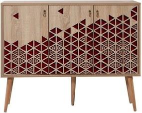 Comodă din lemn Iousta Red Triangle