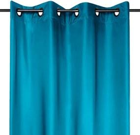 Draperie groasă STOCKHOLM albastru închis 140 x 260 cm 2 buc