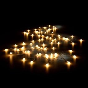[in.tec]® Ghirlanda cu LEDuri pentru Craciun - alb cald - 80 LED- 11 metri