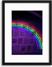 Imagine în cadru - Neon Rainbow 30x40 cm