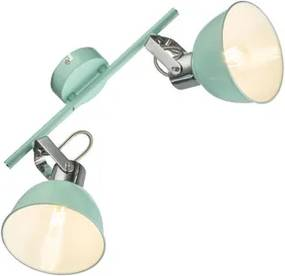Plafoniera tip spot 2xE14 verde menta Roli Globo Lighting 54641-2