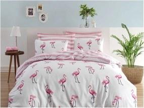 Lenjerie și cearșaf pentru pat dublu Permento Rasha, 200 x 220 cm