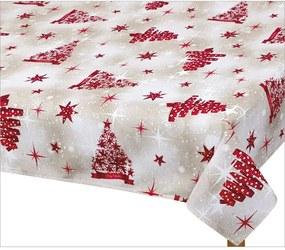 Față de masă de Crăciun Bellatex, pom roșu, 120 x 140 cm, 120 x 140 cm