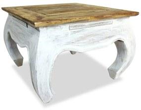 244506 vidaXL Masă laterală din lemn masiv reciclat, 50 x 50 x 35 cm