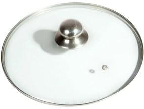 Capac de sticlă cu mâner din oţel inoxidabil diametru 28 cm