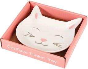 Farfurie decorativă din porțelan Rex London Cat Face