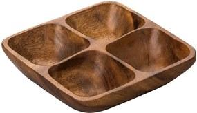 Platou compartimentat din lemn salcâm Premier Housewares Socorro