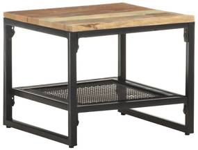 320242 vidaXL Masă laterală, 40 x 40 x 35 cm, lemn masiv reciclat