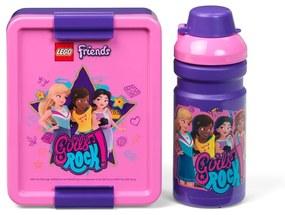 Set sticlă pentru apă și cutie pentru gustări LEGO® Friends Girls Rock