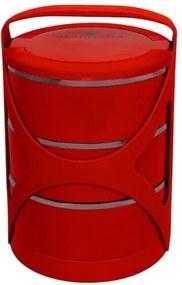 Sufertaș Blaumann trei compartimente roșu