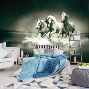Fototapet - Unicorni galopînd pe apă (152,5x104 cm), în 8 de alte dimensiuni noi