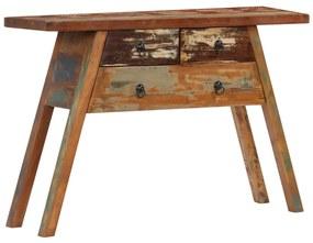 247577 vidaXL Masă consolă, 110 x 30 x 75 cm, lemn masiv reciclat